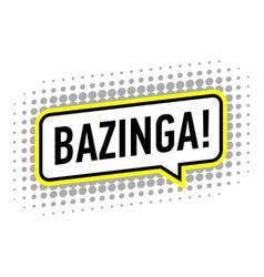 Bazinga icon pop art style vector