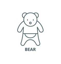 bear line icon bear outline sign concept vector image