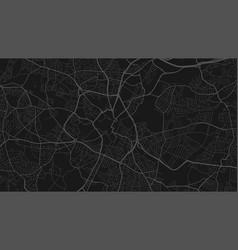 Black and dark grey birmingham city area vector