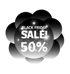 black friday banner in the form cloud black balls vector image