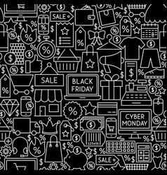 Black friday cyber monday tile pattern vector