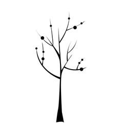 black tree icon doodle vector image