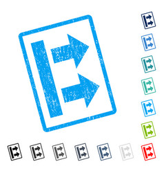Bring right icon rubber watermark vector
