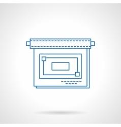 Business presentation flat blue line icon vector image