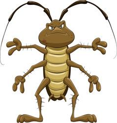Cartoon cockroach vector