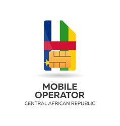 central african republic mobile operator sim card vector image