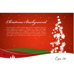 christmas background with tree from snowflakes vector image