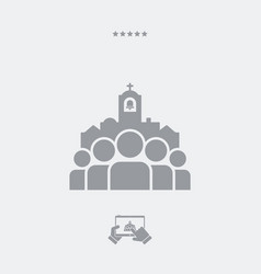 Church community single icon vector