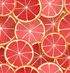 Citrus seamless pattern Grapefruit vector