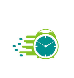 clock logo design vector image
