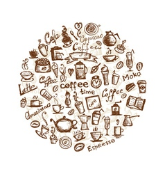 Coffee time design elements vector image