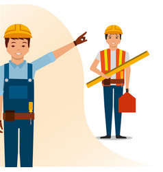 Construction people tools vector