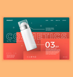 cosmetic deodorant on modern site template vector image