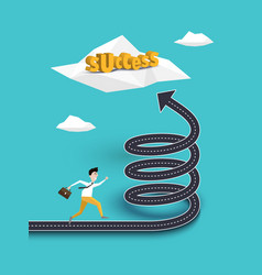 creative concept of career growth or path to vector image