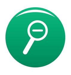 cursor magnifier minus icon green vector image