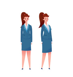 cute business woman in suit set vector image