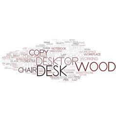 Desk word cloud concept vector