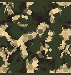 digital gexagonal camo seamless pattern vector image