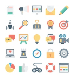 Digital Marketing Icons 1 vector image