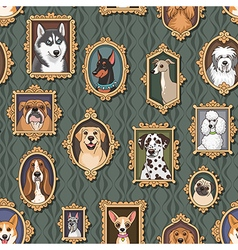 Dogs pattern vector image