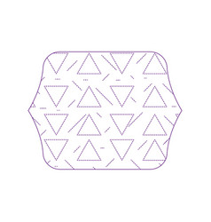 Dotty shape quadrate with geometric graphic vector