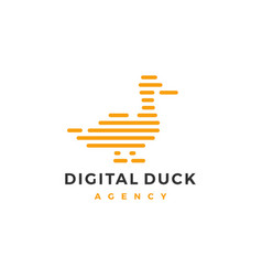 duck logo icon line outline monoline vector image