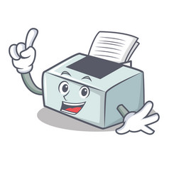 Finger printer mascot cartoon style vector