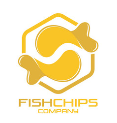 Fish and chips logo vector