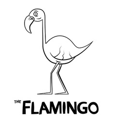 Flamingo Outline Cartoon vector image