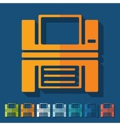 Flat design printer vector