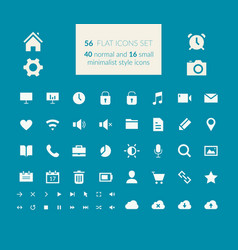 flat icons set vector image