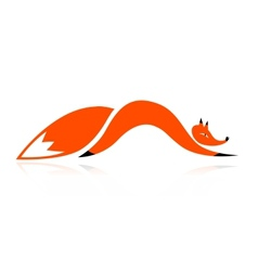Fox silhouette for your design vector image