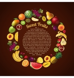 Fruits Round Composition vector