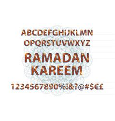 golden english alphabet in islamic style vector image