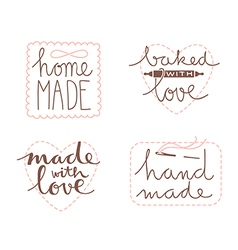 Hand drawn label set vector