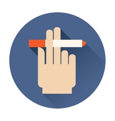 hand holding a cigarette icon vector image