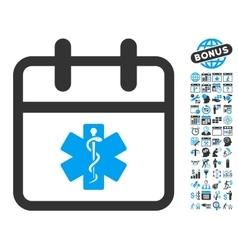 Health Care Day Flat Icon With Bonus vector image