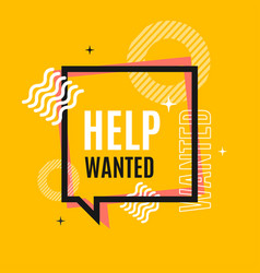 Help wanted concept square banner poster flyer vector