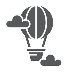 hot air balloon glyph icon airship and travel vector image