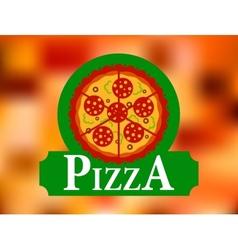 italian pizza restaurant label vector image
