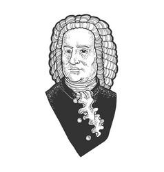 Johann sebastian bach sketch vector