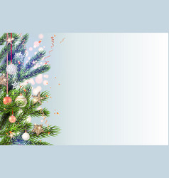 light christmas template vector image