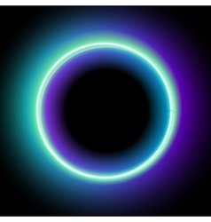 Lowing electric circle neon lamp vector