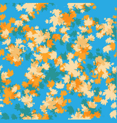 Maple seamless pattern vector