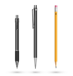 mechanical pencil vector image