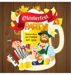 Oktoberfest party flyer vector image