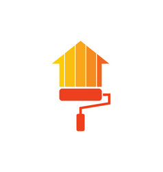 paint house logo icon design vector image
