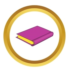 Pink book icon vector