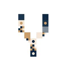 pixel art letter y colorful letter consist of vector image