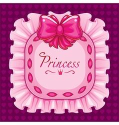 Princess pillow pillow pink vector